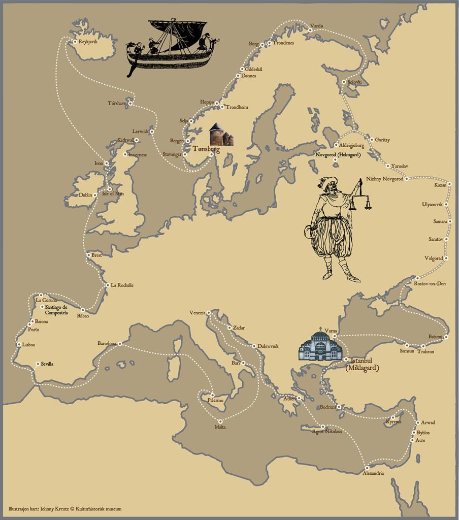 Den planlagte reisen med Saga Farmann - Europa rundt! Hvilken etappe blir du med på?